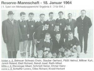 1964: Reservemannschaft