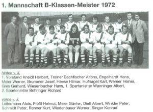 1972: B-Klasse Meister