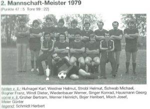 1979: 2. Mannschaft Meister
