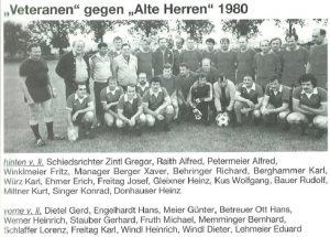 1980: Alte Herren Veteranen