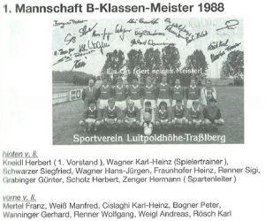 1988: 1. Mannschaft - Meister B-Klasse