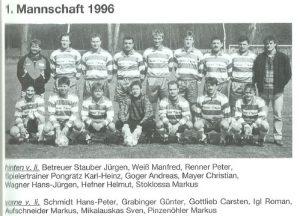 1996: 1. Mannschaft
