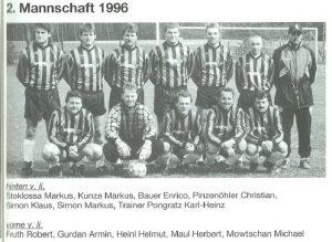 1996: 2. Mannschaft