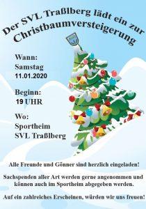 2020 Plakat Christbaumversteigerung