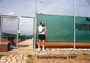 1987 Turnier mit Präsi Hans Ott