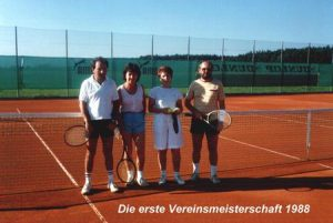 1988 Die erste Vereinsmeisterschaft