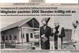 1993 Zeitung Neubau Tennisheim
